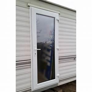 porte d39entree mobilhome pvc vitree avec encadrement With porte d entrée pvc avec double vitrage