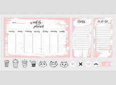 Cute weekly planner template — Stock Vector © artnis