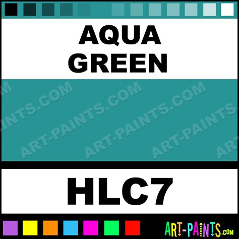 aqua green homogenized ink paints hlc7 aqua
