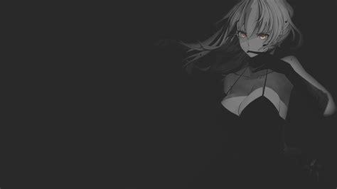Women Fantasy Girl Cleavage Minimalism Texture Black