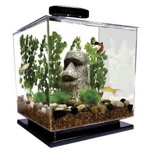 cube aquarium starter kit tank led light water filter betta goldfish small fish ebay