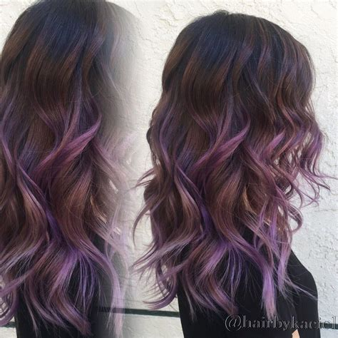 Purple Ombre Balayage Black Hairstyles Pinterest