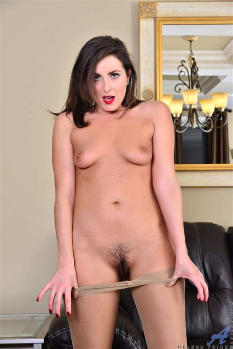 helena price strips and spreads her hairy pussy 1 of 1