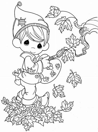 Coloring Autumn Pages Thanksgiving Sheets Fall Leaves