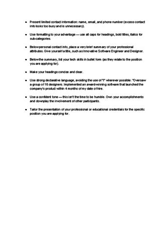 Technical Resume Tips by How To Write A Technical Resume 15 Steps With Pictures