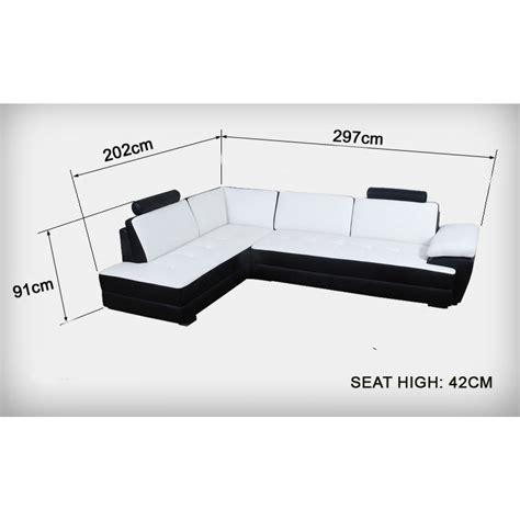 canapé dimension canapé d 39 angle en cuir gemma canapés d 39 angle en cuir
