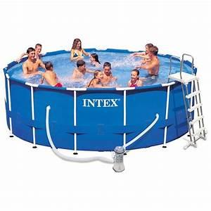 Intex Piscine Tubulaire Ronde : piscine tubulaire intex ronde metal frame 4 57 x h1 22m ~ Dailycaller-alerts.com Idées de Décoration