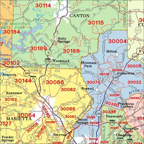 Atlanta Zip Code Map Georgia
