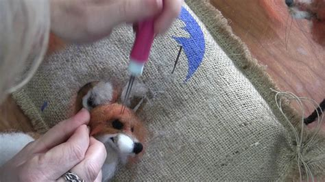 needle felt animals fox tutorial  ears eyes