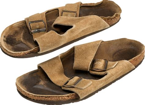 steve jobss smelly  sandals  sold  auction