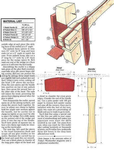 wooden mallet plans woodarchivist