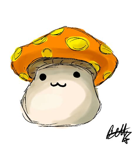 Try to mouse over to check transparency. Mushroom clipart animation, Mushroom animation Transparent ...