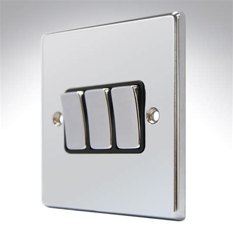 3 switch light switch hartland polished chrome light switch 3 2 way