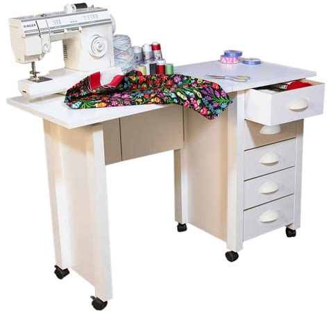 craft table on wheels mobile folding desk sewing machine craft table home sewing