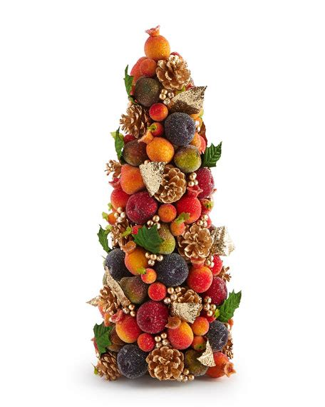 salzburg creations beaded fruit  conical tree