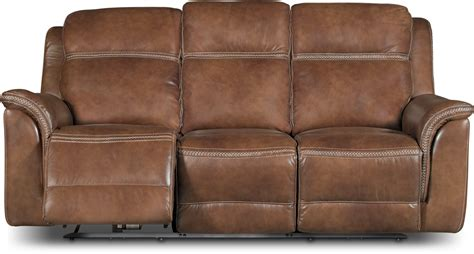 rc willey leather sofas pacific oak brown leather match power reclining sofa