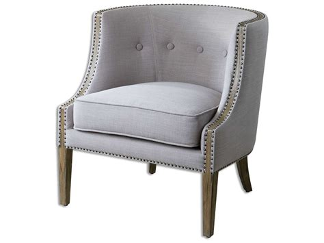 uttermost gamila light gray accent chair 23220