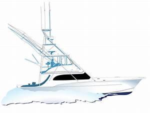 Fishing Boat Silhouette Clip Art