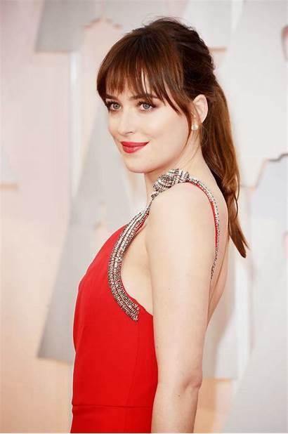 Dakota Johnson Oscars Carpet Hollywood Slinky Sizzles