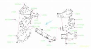 2010 Subaru Forester Catalytic Converter Gasket  Exhaust