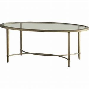 montague oval glass gold coffee table With oval glass and gold coffee table
