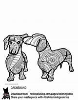 Coloring Dog Theblissfuldog Duo Dachshund Daschund Dogs Puppies sketch template