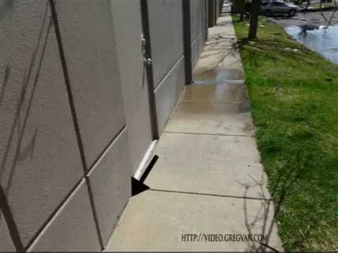 caulking gap  building  sidewalk maintenance