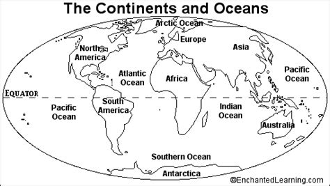 Label The Continents Coloring Page