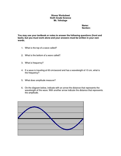 14 Best Images Of Sound Wave Worksheet 4th Grade  Light And Sound Waves, 4th Grade Science