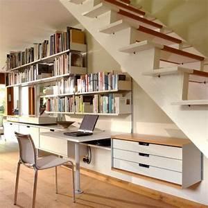 Bureau Sous Escalier : quelques id es cr atives de rangement sous pente ~ Farleysfitness.com Idées de Décoration