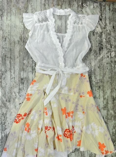 country shabby chic dress cottage chic autumn clothing