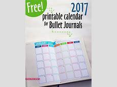 Free 2017 Calendar Printable for Bullet Journals Press