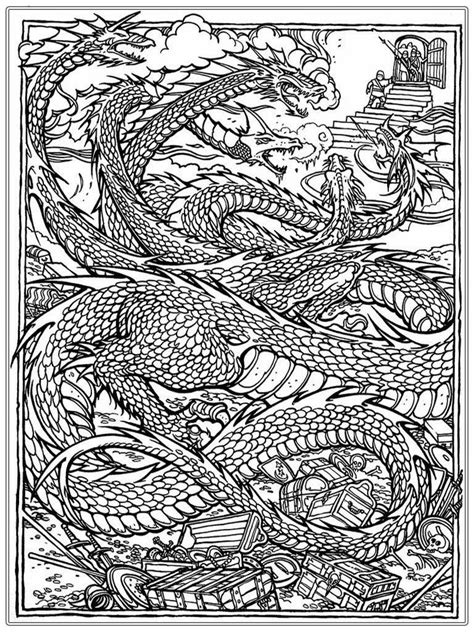 dragon coloring pages  adults  coloring pages  kids