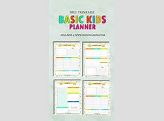 Free Printable Kids Planner Cute and Colorful!