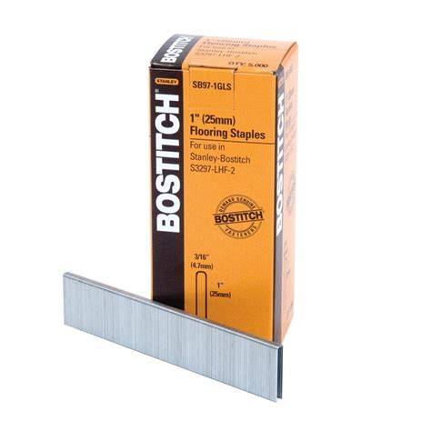 bostitch flooring staples home depot bostitch 1 in x 20 3 16 in crown hardwood flooring