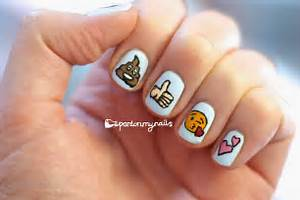 Pardon my nails uk nail art freehand emoji