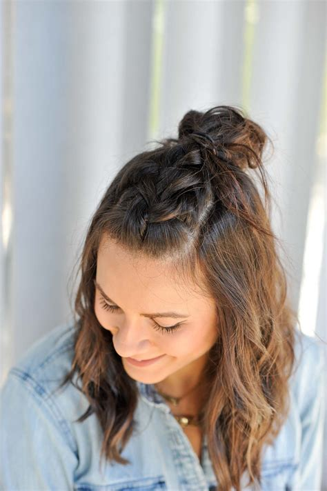 braided     hairstyle     top knot