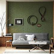 Brick Wall Interior House Brick Wall Accent Color Green On The Interior Collective The