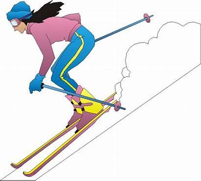 Clipart Skiing Ski Clip Cliparts Library Bad
