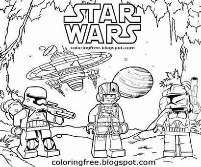Coloring Wars Lego Printable Drawing Space Battle
