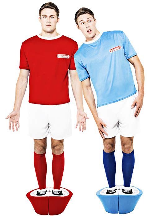 Subbuteo Strip Costume Mens Football Soccer Sports Fancy Dress Retro Outfit New | eBay