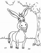 Donkey Coloring Pages Shrek Funny Printable Cartoon Baby Mule Drawing Bestcoloringpagesforkids Sheets Animal Para Smiling Dibujos Books Fun Adult Balaam sketch template