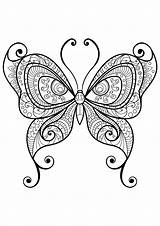 Coloring Butterfly Colorare Papillon Disegni Coloriage Farfalle Adulti Insetti Stampare Colorate Colorear Papillons Motifs Insectos Insectes Mandala Insects Imprimer Coloriages sketch template