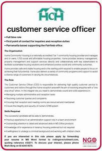 Roles Of A Customer Care Officer Ngo Recruitment Direct Service
