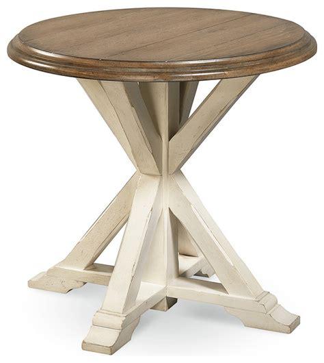 round coastal coffee table coastal oak round end table white beach style side