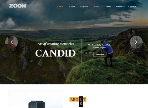 photography website html templates  stunning
