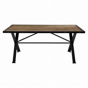 Table En Manguier : table de salle manger en manguier massif m tal rivet l 180 cm factory maisons du monde ~ Teatrodelosmanantiales.com Idées de Décoration
