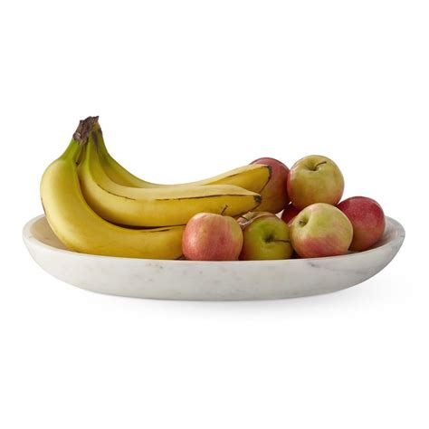 marble oval fruit bowl williams sonoma ca