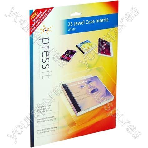 Pressit A4 Jewel Case Inserts (25 Normal50 Slim