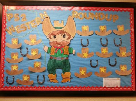 cowboy preschool theme western bulletin board classroom bulletin board ideas 320